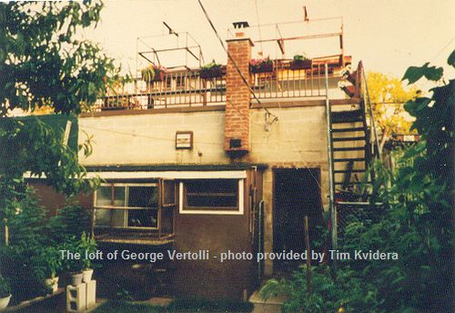 Loft of George Vertolli -- photo provided by Tim Kvidera