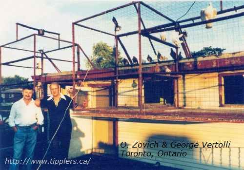 Oskar Zovich with George Vertolli, Toronto, Ontario